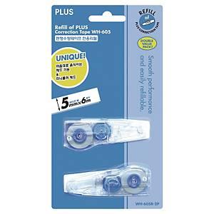 PLUS WH-605-2p 수정테이프 리필 5MM×6m 2개입 (10개 구매시 박스구성)
