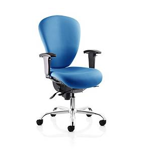 Sphere High Back Operators Chair Heavy Duty Blue