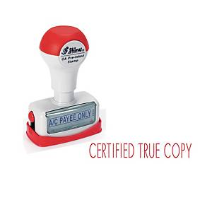 Shiny Pre-Inked Certified True Copy Stamp Red
