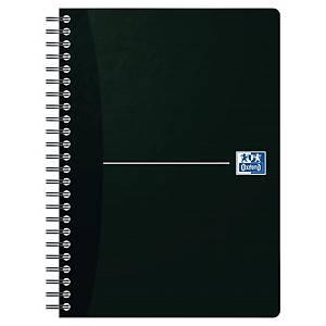 Oxford Office Smart Black A5-ös jegyzetfüzet, négyzethálós