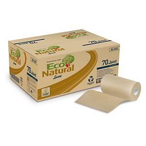 Pack de 12 bobinas secamanos Lucart EcoNatural -70 m- 2 capas - habana