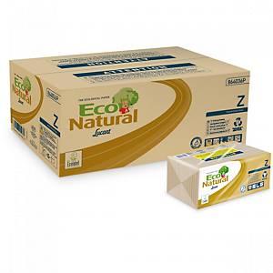 Pack 18 paquetes de toallas secamanos Lucart EcoNatural - 220 hojas - Z- 2 capas