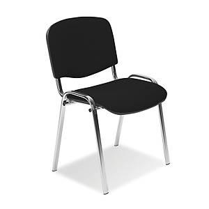 Konferenčná stolička Iso Chrome čierna