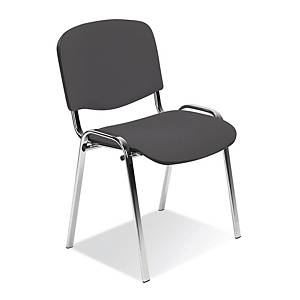ISO CHROME C STACK. CHAIR ANTRACIT