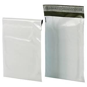 Pack de 100 sobres de plástico opaco Bong - 310 x 420 mm - 60 µ - banda adhesiva