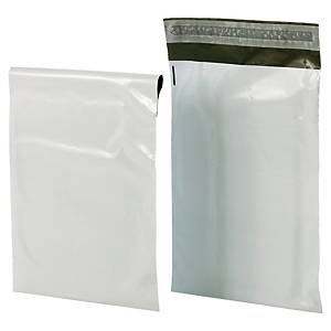 Pack 100 envelopes de plástico opaco Bong - 350 x 460 mm - 60 µ - banda adesiva