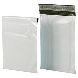Pack de 100 sobres de plástico opaco Bong -350 x 460 mm - 60 µ - banda adhesiva