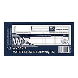 Druk MI&PRO WZ Wydanie materiału na zewnątrz, 1/3 A4 (wielokopia), 80 kartek