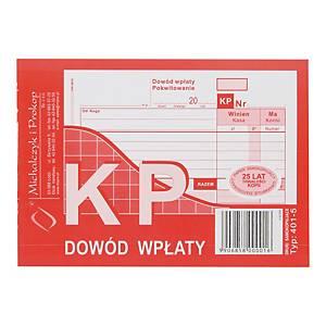 Druk MICHALCZYK&PROKOP KP Dowód wpłaty A6 (wielokopia), 80 kartek