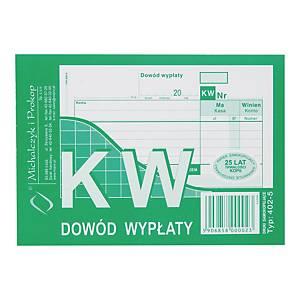 Druk MICHALCZYK&PROKOP KW Dowód wypłaty A6 (wielokopia), 80 kartek