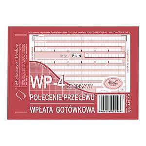 Druk MICHALCZYK&PROKOP Polecenie przelewu/wpł. got. A6 (o+3k) miękkie, 80 kartek