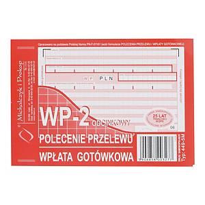 Druk MICHALCZYK&PROKOP Polecenie przelewu/wpł. got. A6 (o+1k) miękkie, 80 kartek