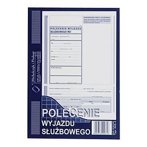 Druk MICHALCZYK&PROKOP Polecenie wyjazdu służbowego A5 (offset), 40 kartek