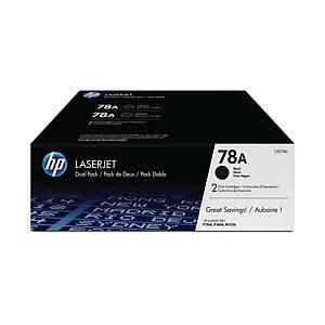 HP 78A 2-Pack Black Original Laserjet Toner Cartridges (CE278AD)
