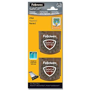 BX2 FELLOWES SAFECUT BLADES STRAIGHT