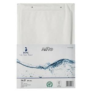 Koperty bąbelkowe AirPro® Bong 16/F białe, w opakowaniu 10 sztuk