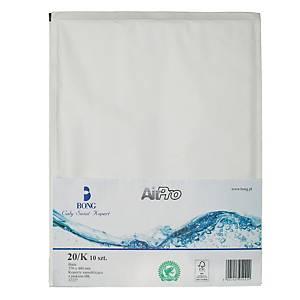 Koperty bąbelkowe AirPro® Bong 20/K białe, w opakowaniu 10 sztuk