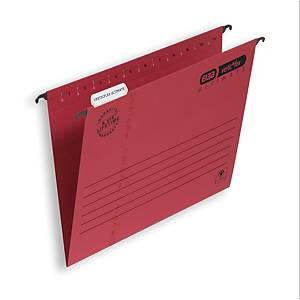 Elba Strongline Ultimate Verticflex Suspension Files Foolscap Red V Base Box 25