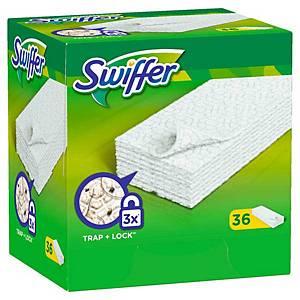 Lingettes pour le nettoyage des sols Swiffer, pack de 36 piècess