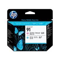 HP 91 Light Magenta and Light Cyan DesignJet Printhead (C9462A)