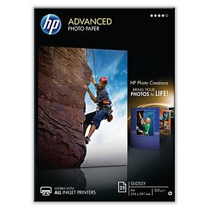 Fotopapir HP Q8008A Glossy Inkjet, 10 x 15 cm, 250 g, pakke a 60 ark