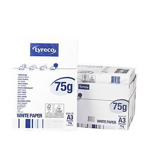 Papier A3 blanc Lyreco Standard FSC, 75 g, la boîte de 5 x 500 feuilles
