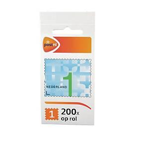 Zelfklevende postzegels Nederland, zakenzegel 1, tot 20 g, per 200 zegels op rol