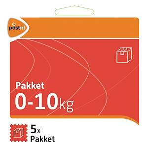 Stamps Standard parcel Pakketzegel till 10 kg - set of 5