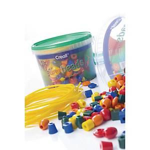 Creall perles en pastique couleurs assorties - le paquet de 245 + cordon 8 m