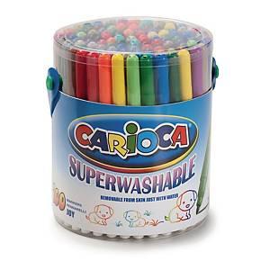 Feutres fins assortis Carioca Joy Superwash, le pack classe de 144 feutres