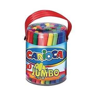 Carioca Jumbo dikke viltstiften, assorti kleuren, doos van 50 stiften