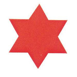 Gommettes étoile couleurs assorties - le paquet de 400