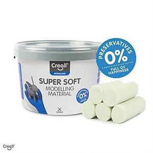 Creall Supersoft boetseerklei, blijft zacht, goen, pot van 1.750 g