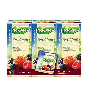 Pickwick Professional Fairtrade bosvruchten thee, doos van 75 theezakjes