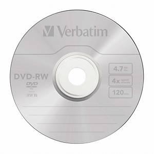 Pack de 10 DVD-RW Verbatim - 4,7 Gb