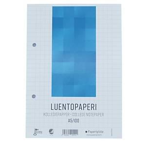 Luentopaperi A5 8-12 100 arkkia, 7x7mm ruuduilla, myyntierä 1 kpl = 100 arkkia