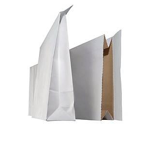 Näytepussi 220 x 430 x 60mm tarrasuljenta valkoinen