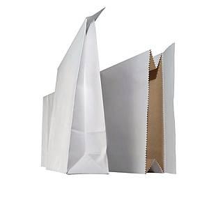 Näytepussi 250 x 430 x 70mm tarrasuljenta valkoinen