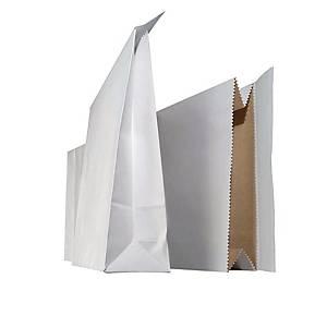 Näytepussi 250 x 480 x 70mm tarrasuljenta valkoinen