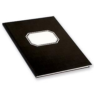 Konttorikirja 82422 B5/288 ruudutettu 7x7mm nidottu kovakantinen musta