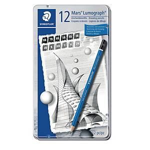 Staedtler Lumograph 100 G12S lyijykynä, 1 kpl=12 kynää