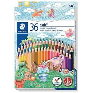 Staedtler Noris Club 144 puuvärikynä värilajitelma, 1 kpl=36 kynää