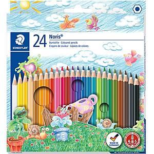 Staedtler Noris Club 144 puuvärikynä värilajitelma, 1 kpl=24 kynää