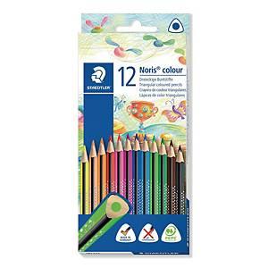 Staedtler Noris Club 127 puuvärikynä värilajitelma, 1 kpl=12 kynää