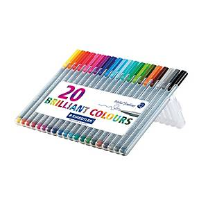 Staedtler Triplus Fineliner Assorted Pack of 20