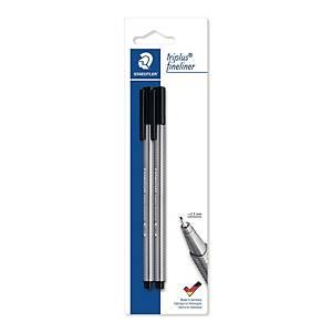 Staedtler Triplus 334 kuitukärkikynä 0,3mm blisteri musta, 1 kpl=2 kynää
