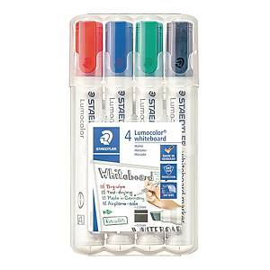 Staedtler Lumocolor 351B valkotaulukynä viisto 2-5mm värilajitelma, 1kpl=4kynää