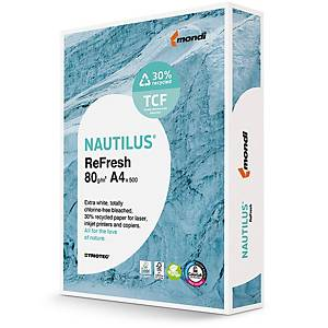 Papier à copier Nautilus Triotec ReFresh A4, 80 g/m2, blanc, pqt de 500 feuilles