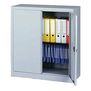 BISLEY STATIONERY CUPBOARD 1M L/GRY AT
