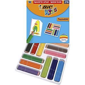 Pack 216 lápices BIC Tropicolors 2 pack colores surtidos